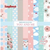 Set papírů (12ks) 190g/m2 - You and Me